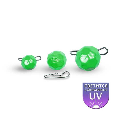 Fishball (граненый) САЛАТОВЫЙ - 1